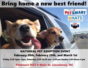 National Dog & Cat Adoption Event @ Petsmart Lincolnton