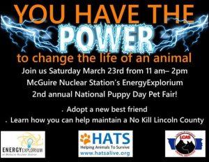 National Puppy Day Pet Fair @ McGuire Nuclear Station EnergyExplorium