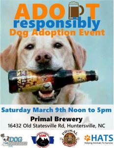 Luck of the Pups Rescue Palooza at Primal Brewery @ Primal Brewery