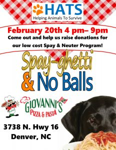 Dine Out for the PAWS at Giovanni's @ Giovanni's Pizza